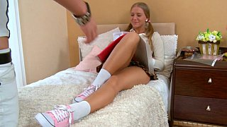 Schoolgirl gets a lesson