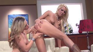 Horny blondes spending time together