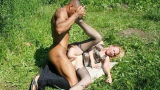 Public sex scenes with natural blonde