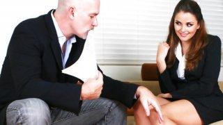 Allie Haze provides full boss service