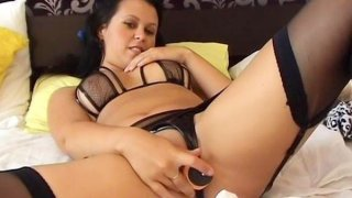 Homemade masturbation toy action