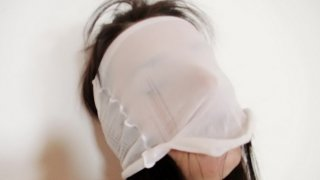 Thin Promesita nylons fetish mask