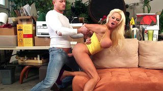 Nikita Von James takes his hard juicy cock doggy style