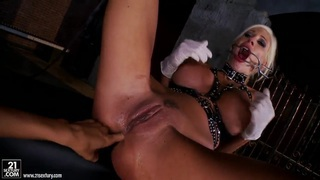 Lesbian bondage fun with Puma Swede and Sandy