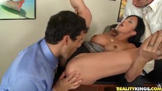 Jewels Jade gets nailed by Jordan Ash and Ramon
