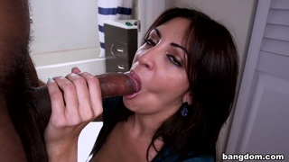Latina big natural tits take some black dick