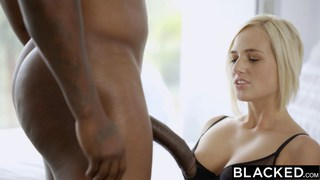 Hot blonde gets wet when she sees a BBC
