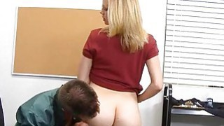 Schoolgirl seduces an adult male to use his shlong