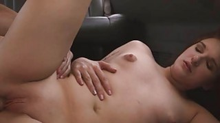 Pretty Redhead Fucked And Taking Facial In Back Of Van