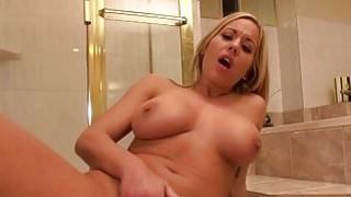 Huge boobs Olivia Austin bathroom fuck
