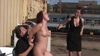 Breathtaking slut is abused sexually in public