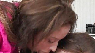 Stepmom Eva Notty and pretty teen Kacy Lynn share a shaft
