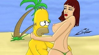 Simpsons sex parody
