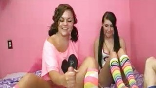 BFF Teens Decide To Milk Off Ones Stepbrother