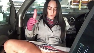 Dark Chloe Lovettes public flashing and smoking