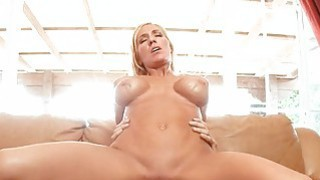 Beauty rides on a overweight cock tenaciously