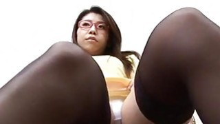 Mizuki Ogawa girl with glasses gets threesome sex