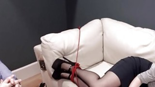 Extremely hardcore BDSM rope makinglove with anal action