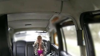 Big juggs blonde passenger ass banged for free taxi fare