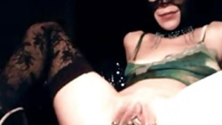 stretchable pussy slave Sonja on home webcam