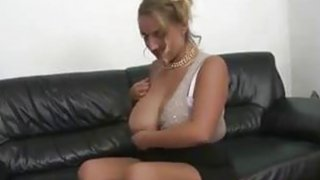 Blonde MILF with big natural tits and shaved pussy fuck