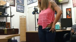 Slut with glasses screwed by pawn dude at the pawnshop