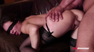 Hot blindfolded wife doggystyled