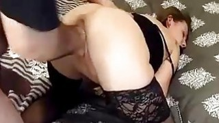 Brutally fisting girlfriend in bondage