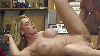 Big tits babe sells her tiara and fucked