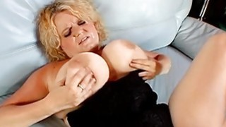 Busty chick is having explicit fun with a vibrator