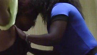 Magnificent African lesbians give each other amazing oral pleasure in the bedroom