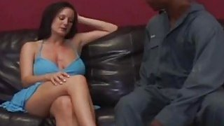 Busty milf seduced by horny black stud and banged