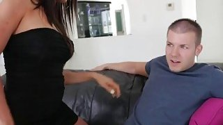 Luscious Milf Blows Step Son Huge Throbbing Prick