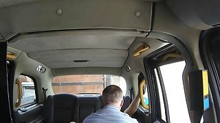 Amateur passenger pounded by nasty driver in the cab