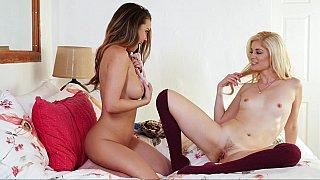 Steamy lesbian love