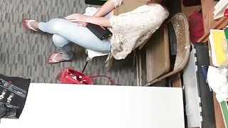A horny fake private investigator fucks two wet pussies of teen thieves