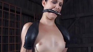 Busty beauty loves getting slit torture