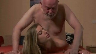 Young Secretary Fucks old man boss fucks beautiful