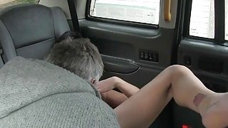 Nasty babe anal pounded by horny driver in the backseat