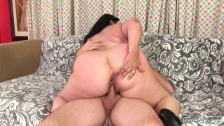 Round and Raunchy BBW Lacy Bangs Is Fucked Up Her Tight Asshole