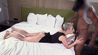 Horny slut takes it way deep
