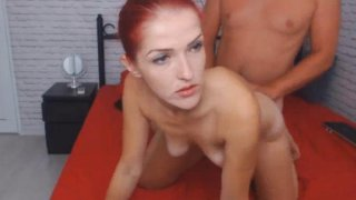 Skinny Redhead Chick Fucks Her Room Mate