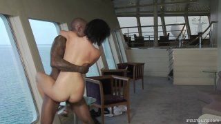 Rihanna Samuel just loves riding hard a big black cock