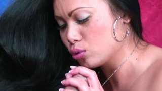 Asian cock sucker Mya Luanna finds young dick to ride