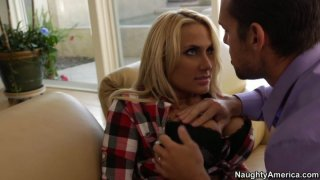 Businessman has chance to fuck country slut Alanah Rae