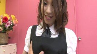 Delightful housemaid Nao Kojima gets her body fondled
