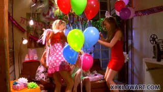 A birthday party with Capri Anderson, Heather Carolin, Jana Jordan and Jayme Langford grows into a dirty games
