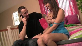 Smiling Holly Michaels gets her quim poked doggy by Chris Strokes