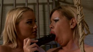 BDSM fun in the prison cage with naughty MILFs Pamela and Kathia Nobili