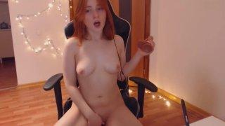 Can Girl having fun (no audio)
